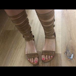 Gladiator leather sandals, size 6.5!